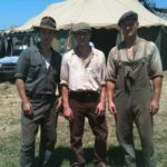 on the set of Water for Elephants